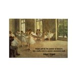 Degas Dancers Quote Rectangle Magnet