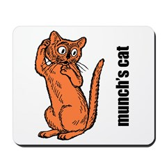 Edvard Munch's Cat Mousepad