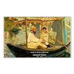 French Painter Manet Quote Rectangle Sticker