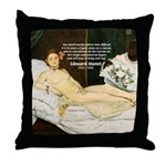 Impressionist Art Manet  Throw Pillow