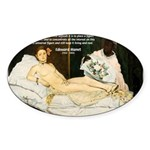 Impressionist Art Manet Oval Sticker