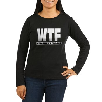 Women's Long Sleeve Dark WTF - Welcome To Finland from the Metal From Finland Shop