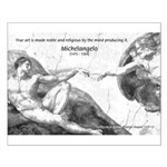 Michelangelo Creation of Adam Small Poster