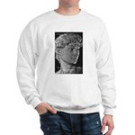 David with Michelangelo Quote Sweatshirt