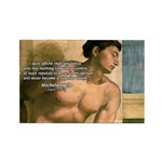 Michelangelo Nude Painting Rectangle Magnet (10 pa