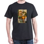 Michelangelo Art Philosophy Black T-Shirt