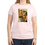 Michelangelo Art Philosophy Women's Pink T-Shirt