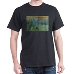 Claude Monet Torture Art Black T-Shirt
