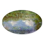 Monet Painting: Beauty Quote Oval Sticker
