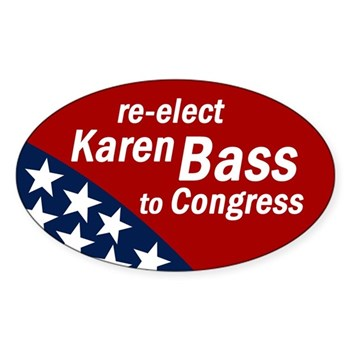 Re-Elect Karen Bass to Congress bumper sticker