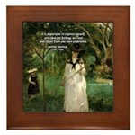 Berthe Morisot Art Quote Framed Tile