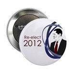 Re-elect Obama 2012 campaign button