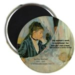 "Female Artist Morisot Quote 2.25"" Magnet (10 pack)"