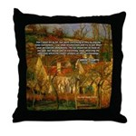 Artist Pissarro: How to Paint Throw Pillow