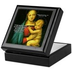 Raphael Madonna Painting Keepsake Box