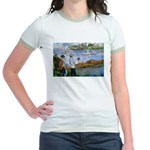 Renoir Painting: Art & Beauty Jr. Ringer T-Shirt