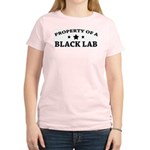 Property of a Black Lab Women's Pink T-Shirt