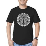 Tattoo Butterfly Diabetes Men's Fitted T-Shirt (da