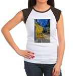 Vincent Van Gogh Color Art Women's Cap Sleeve T-Sh