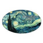 Starry Night Vincent Van Gogh Oval Sticker