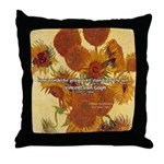 Van Gogh Painting & Quote Throw Pillow