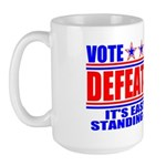 Vote Defeatocrat (Democrat) Large Mug