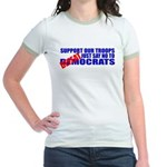 Say No To Defeatocrats Jr. Ringer T-Shirt