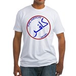 Red White Blue Pure Infidel Fitted T-Shirt