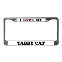 Tabby Cat License Plate Frames