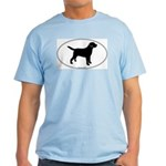 Black Lab Outline Ash Grey T-Shirt