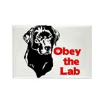 Obey the Lab Rectangle Magnet