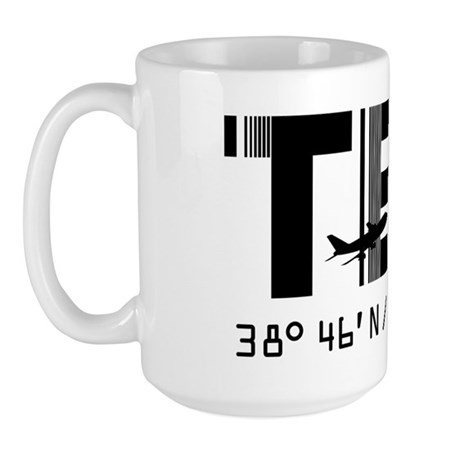 Terceira Azores Portugal airport code Large Mug