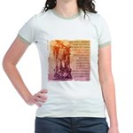 St. Michael Prayer in Latin Jr. Ringer T-Shirt