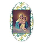 MTA - Our Lady of Schoenstatt Sticker (Oval 50 pk)