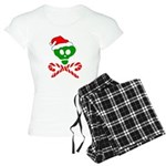Christmas Santa Skull Women's Light Pajamas