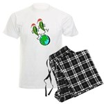 Christmas Peas on Earth Men's Light Pajamas