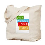 Joy Peace Love Hope Tote Bag