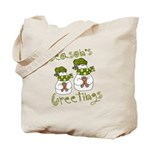 Snowmen Holiday Tote Bag