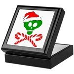 Christmas Santa Skull Keepsake Box