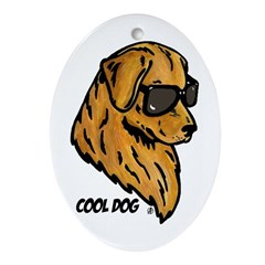 Cool Dog Ornament (Oval)