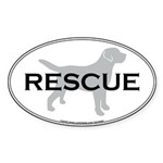 RESCUE Oval Sticker
