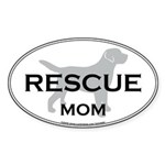 Rescue MOM Oval Sticker