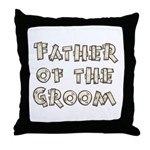 Country Father of the Groom Throw Pillow