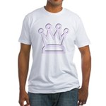 Pale Purple Crown Fitted T-Shirt
