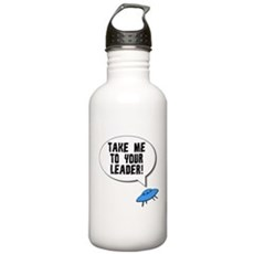 Take Me To Your Leader Stainless Water Bottle 1 Liter