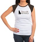 Adopt Homeless Lab Women's Cap Sleeve T-Shirt