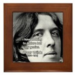 Playwright Oscar Wilde Framed Tile