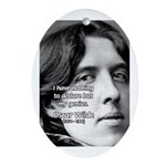 Playwright Oscar Wilde Oval Ornament