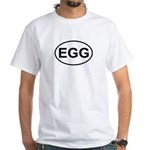 Egg European Oval White T-Shirt