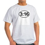 John 3:16 Christian Bible Verse Light T-Shirt